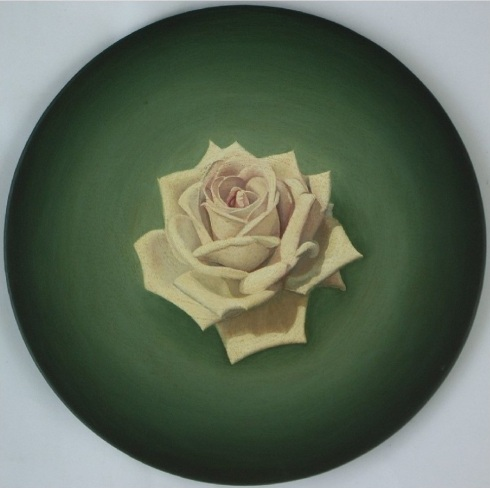 Royal Highness______2004, oil and acrylic on canvas, 300mm diameter.